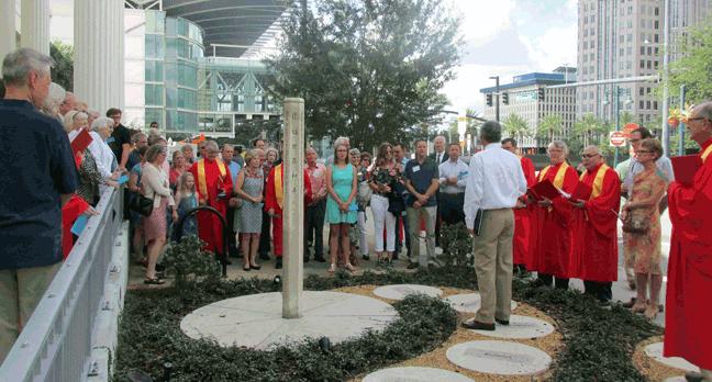 First United Methodist Church Orlando, Florida stone peace pole